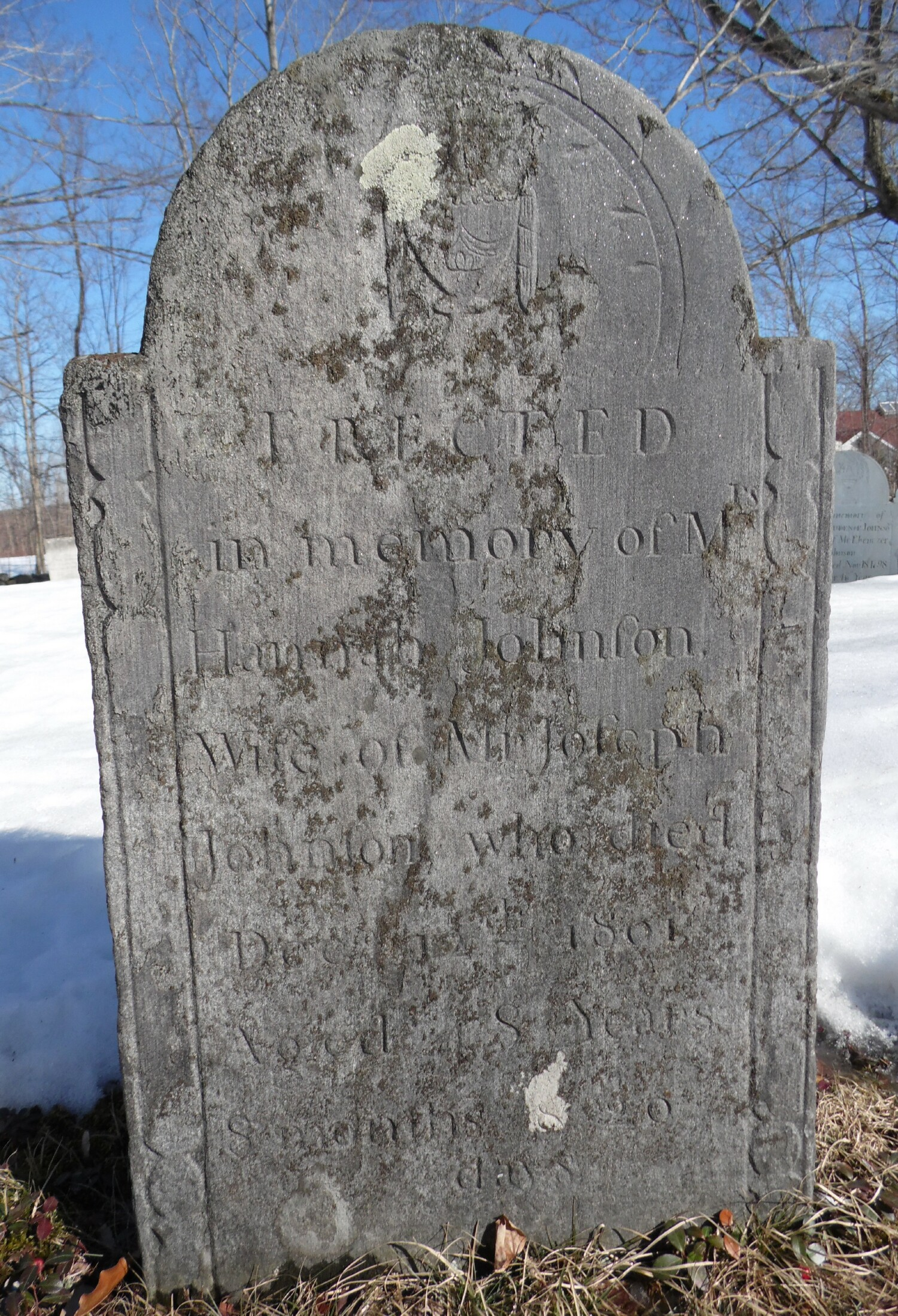 Gravestone of Hannah (Wilder) Johnson